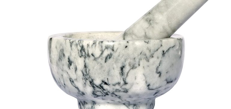 Natural Marble Mortar & Pestle Stone Grinder