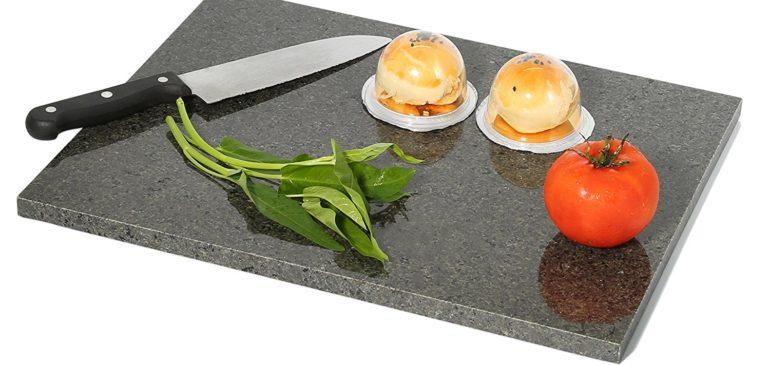 Premium Non-Stick Natural Black Granite 12″ X 16″ Pastry Board  with No-Slip Rubber Feet